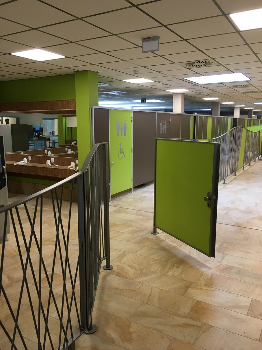 Endzustand: Abtrennung Passage Umkleide / Sanitär