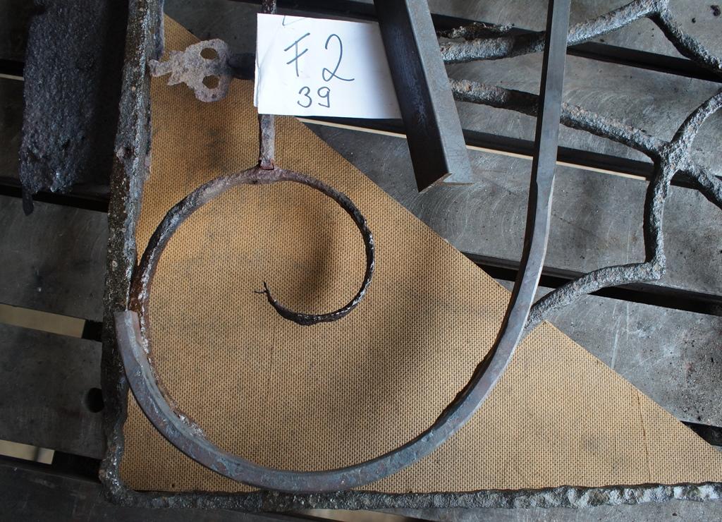 Gitterfeld 39, Detailansicht: Bearbeitung