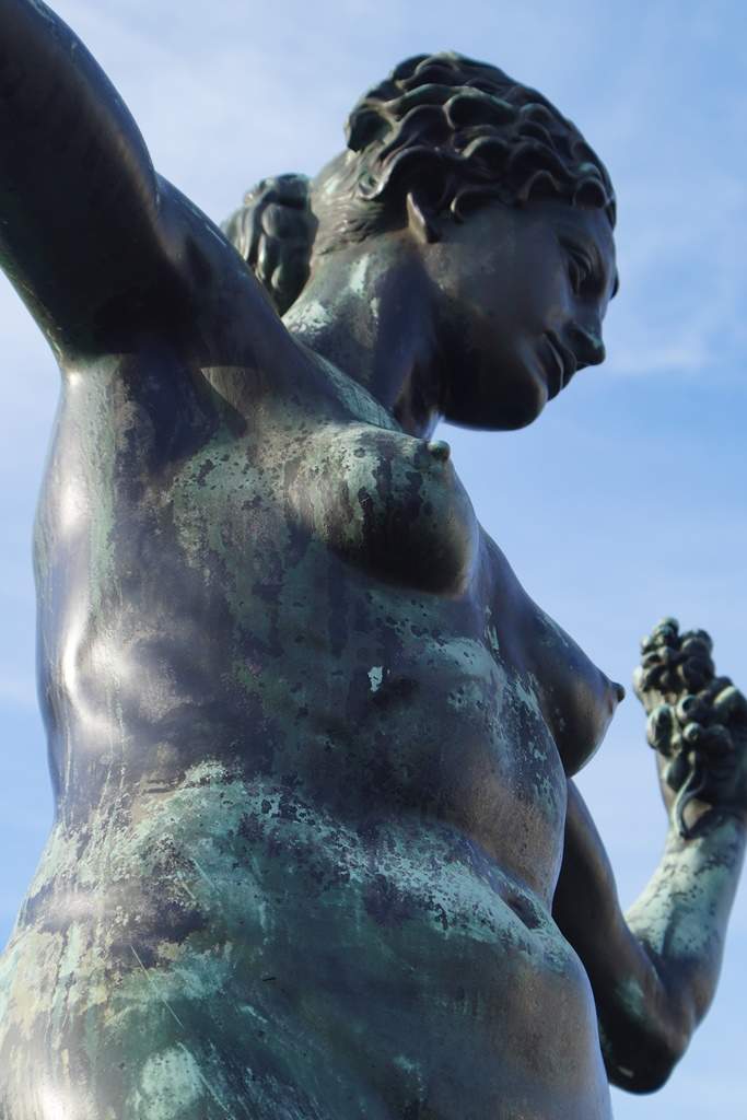 Marie-Gey-Brunnen, Dresden: Detailansicht Oberkörper, Vorzustand