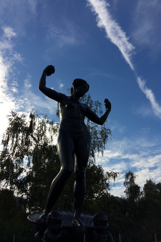 Marie-Gey-Brunnen, Dresden: Vorderansicht, Endzustand