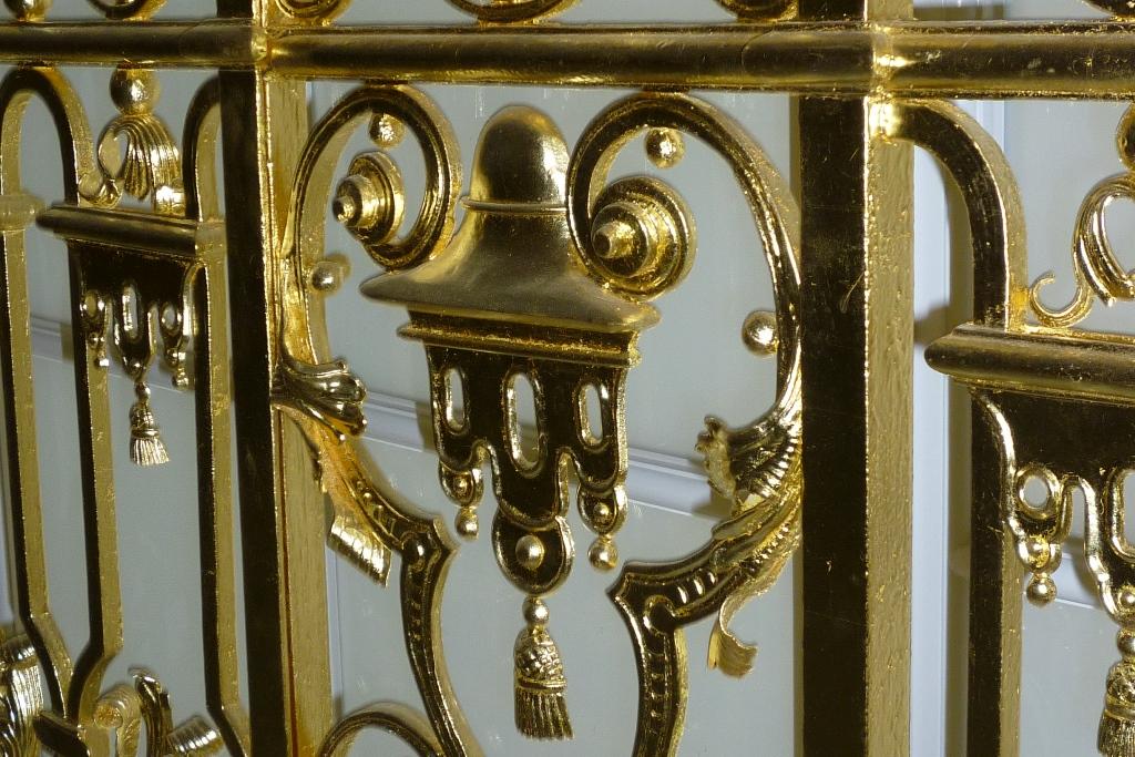 Fenstergitter, Englische Treppe, Detailansicht: Endzustand