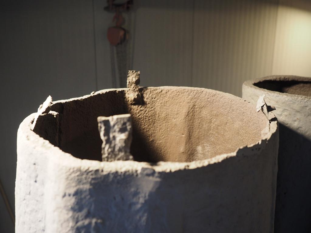Detailansicht historische Flacheisen: Zustand sandgestrahlt