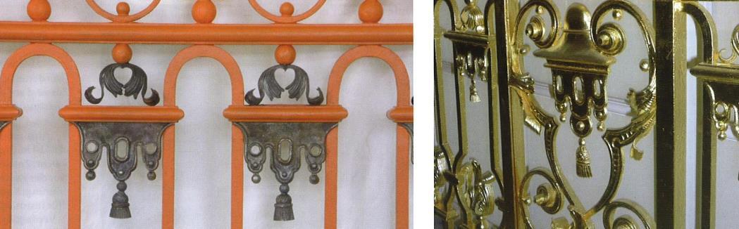 Restaurierung der Metallgitter an der Englischen Treppe