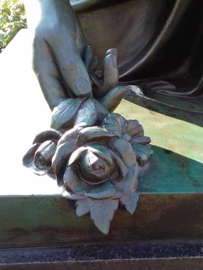 Galvanoplastik, Detailansicht Rose: Endzustand