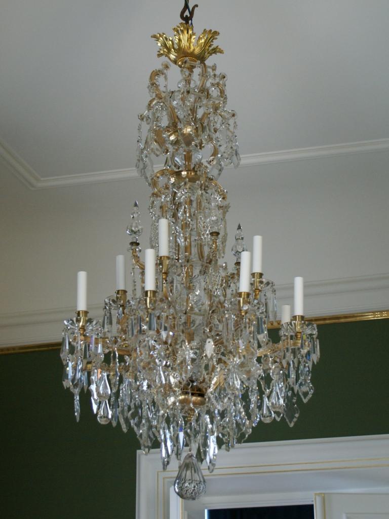 Kronleuchter, Schloss Moritzburg Raum 3: Endzustand nach der Restaurierung