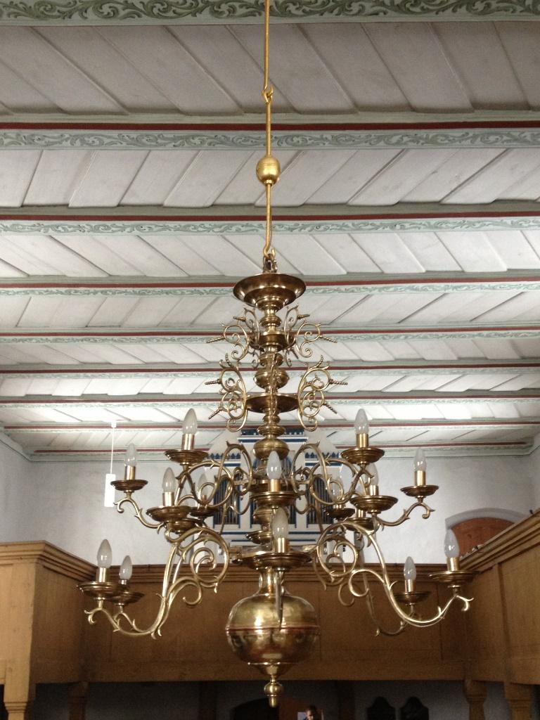 Kronleuchter, Evangelische Kirche Lieskau: Endzustand