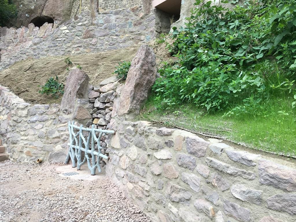 Burg Mildenstein, Betonastwerkgitter: Endzustand