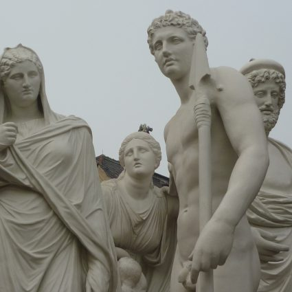 Zinkguss-Skulpturen, Schlossgarten Neustrelitz