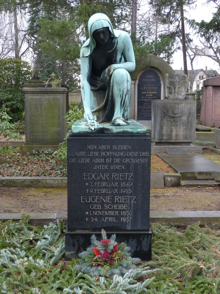 Grabstelle Rietz, Johannisfriedhof Dresden