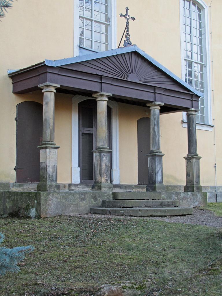 Kirche Herzogswalde, Giebelkreuz: Endzustand