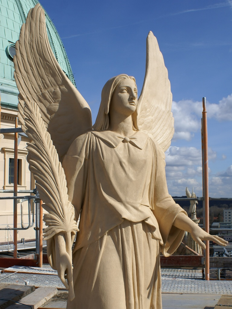 Nikolaikirche Potsdam, Zinkguss-Engel: Endzustand