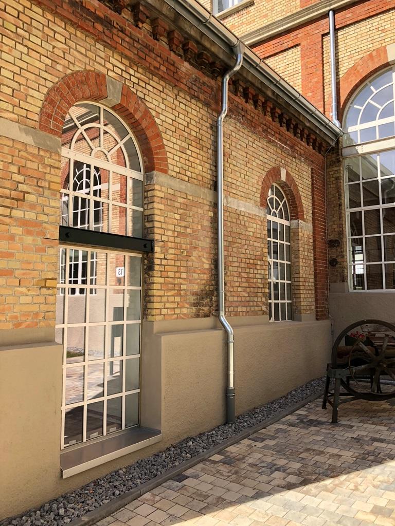 Grünbaum Brauerei Aalen, Stahlfenster: Endzustand