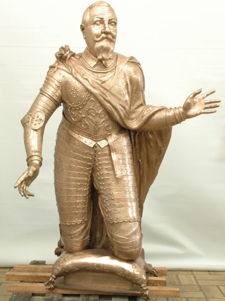 Bronzefigur Johann Georg I.: Endzustand nach der Bearbeitung